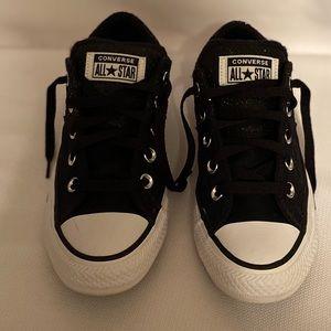 Converse Black canvas & glitter! Size 6